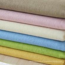30s 85% Rayon 15% linho tecido misturado, linho Rayon tecido liso