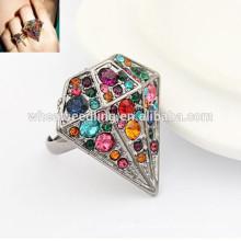 Diamante en forma de joyería de moda anillo dedo anillos fotos