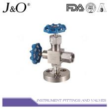 Medidor de pressão Válvula de instrumento de válvula de paragem de aço inoxidável