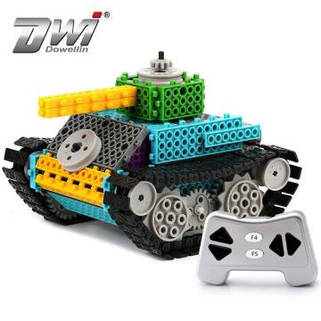 DWI Technical DIY Blocks Building RC Toys Tank with 145 PCS