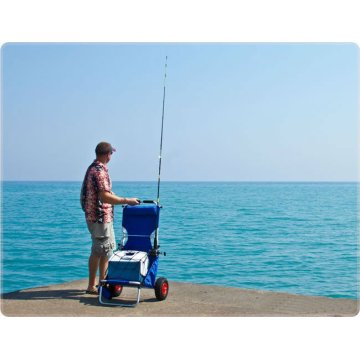 Aluminium Beach Fishing Trolley with Wheels