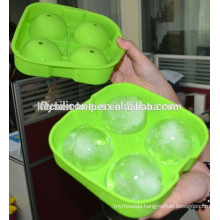 Novelty Silicone round Ice Ball Molds 4 X 6.5cm Round Ice Ball Spheres