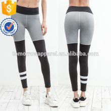 Multicolore Color Block Varsity Striped Leggings OEM / ODM Fabrication En Gros Mode Femmes Vêtements (TA7041L)