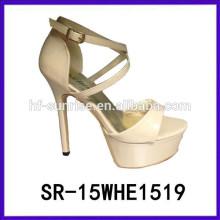 SR-15WHE1519 fancy Damen Hochzeit Sandalen Frauen Mädchen neuesten High Heel Sandalen neue Modell Frauen Sandalen