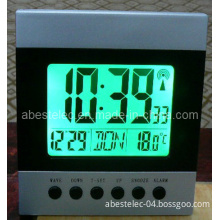 Radio Controlled Desk Clock with or Without Backlight