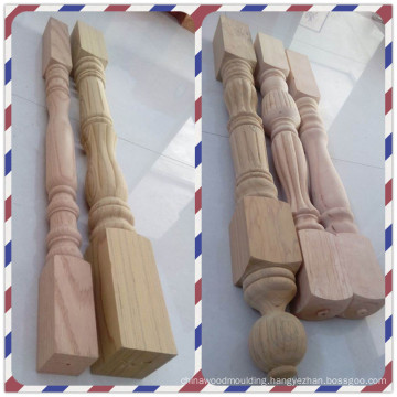 Chinese Top wood stair rail