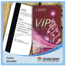Plástico cartão de adesão PVC cartão VIP cartão