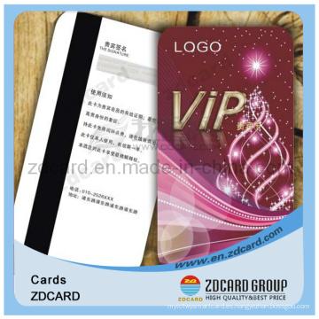 Tarjeta de membresía de plástico Tarjeta de PVC Tarjeta VIP
