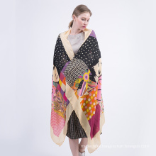 Fashion trends fashion women wear winter warm scarf printed cotton shawl