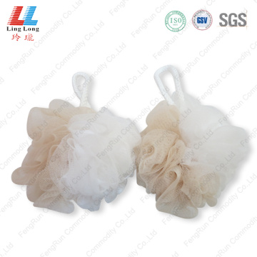 Newest colored mixture mesh bath sponge