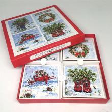 Kundenspezifischer Papierdruckgroßverkaufs-populäre Papierkartengrußkarte, die Weihnachtsgrußkarte druckt