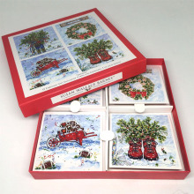 Custom paper printing wholesale popular paper card greeting card printing christmas greeting card