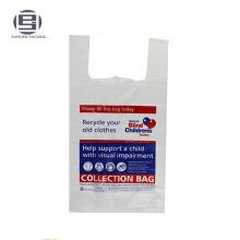 Recyclez les sacs de charité de t-shirt de pe pour des vêtements