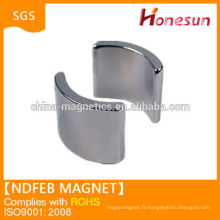 Haute qualité N42 arc neodymium magnet Chine fournisseur