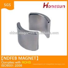 Alta qualidade N42 arco neodímio ímã china fornecedor