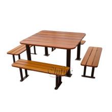 Banco de mesa de picnic de acero y poliresina