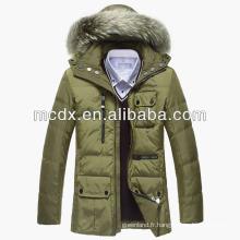 Costume homme manteau rembourré d'hiver avec haute qualité