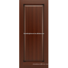 Madera de roble un panel, diseño de la puerta de panel de madera sólido