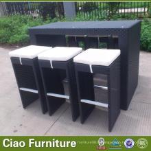 Chaises de comptoir de meubles de jardin, tabourets de bar extérieurs