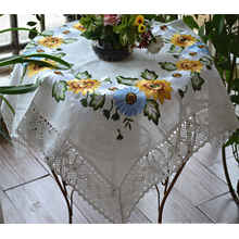Lace Table Clothes Cotton Polyester Table Cloths St121