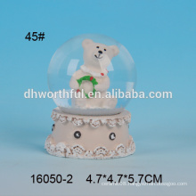 Lovely bear shaped polyresin 45mm water globe