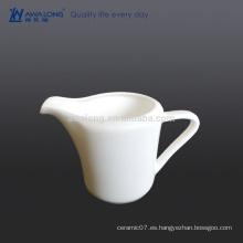 Jarra de leche blanca pura de 150 ml para set de café y cafetería de restaurante