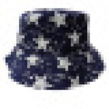 Sombrero del cubo con la tela de la estrella (BT044)