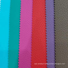 Litchi Grain PVC Leather With Blush Fabric