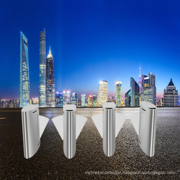RFID 304 Stainless Steel Entrance Flap Barrier Turnstile Gate With Access Control System For Metro Station