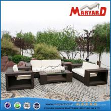 Alta qualidade mobiliário de jardim sofá de vime