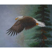 100% Handmade animal águia pintura a óleo
