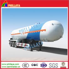 Reboque do tanque de gás do LPG do petroleiro do reboque do caminhão dos Tri eixos 56000liters semi