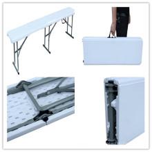 Nuevo artículo 3 piernas 6FT no soplado Moldeado HDPE plástico al aire libre Patio plegable banco (pase TUV prueba)