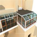 Wall Mounted Sliding Glass Roof Veranda Aluminum Sunroom