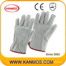 Vaca Split personal seguridad industrial conductores cuero mano mano guantes (11204)