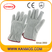 Cow Split Personal Industrial Safety Drivers Leather Work Hand Gloves (11204)