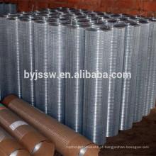 Peso de malha de arame soldado galvanizado de alta qualidade por rolo