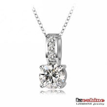 Hot Selling Brass Inlaid Zircon Women Jewelry Necklace (CNL0019-B)