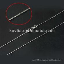 Promoción fina cadena de la plata esterlina de la joyería 925
