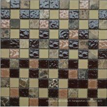 Mélange de mosaïque en pierre et en verre (HGM206)