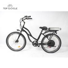 Fábrica de fabricação de ouro chinês barato bicicleta elétrica cruiser praia