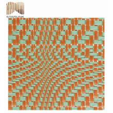tecido de malha de tricô poli deco jardim impermeável