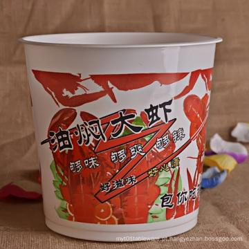 Tigela de papel de sopa descartável em alta capacidade