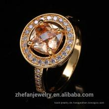 Runde Form-Gelb-Goldhochzeits-Ringe für Großverkauf