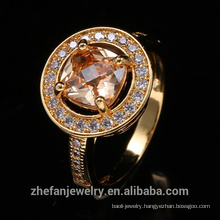 Round Shape Yellow Gold Wedding Rings For Wholesale