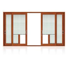 Ventana del obturador de madera del Alumunium del oscilación de Feelingtop (ventana de madera del aluminio de FT)