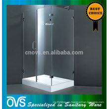 Rectángulo de marco acrílico ducha cabina puerta corrediza de vidrio