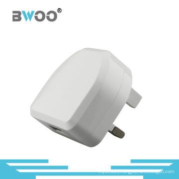 Single USB Travel Charger with UK Plug for Mobile Phone