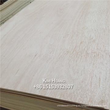 Okoume de la madera contrachapada de 3.0mm / bintangor / madera contrachapada blanqueada para el embalaje