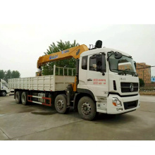 Dongfeng Tianlong 8*4 Heavy Duty Truck with Crane